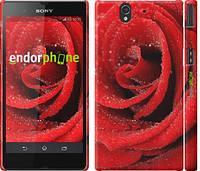 "Чехол на Sony Xperia Z C6602 Красная роза ""529c-40"""