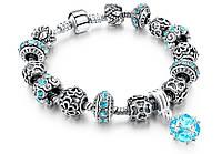 🔝 Браслет в стиле Пандора, (Pandora), Морская волна, с камнями | 🎁%🚚, фото 1
