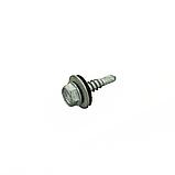 Саморез для профнастила Impax 4,8х19 с шайбой EPDM св.1,5-3,5 мм, с покр.Corrseal, уп-250 шт,ESSVE, фото 2