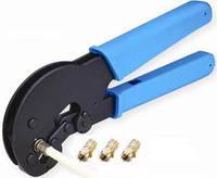 Инструмент для зачистки и обжима коаксиального кабеля