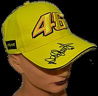 Бейсболки яркие с прикольной вышивкой VR|46 Жёлтая