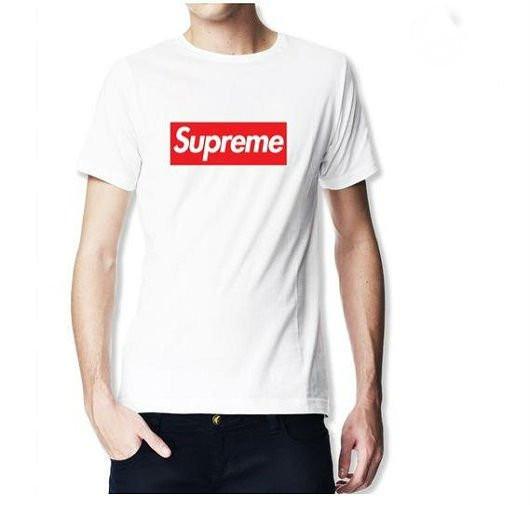 Мужская футболка Supreme белого цвета