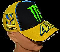 Бейсболка яркая VR|46 с вышитыми логотипами Жётлая с чёрным, фото 1