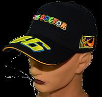 Бейсболка с вышивкой VR|46 Чёрная, фото 1