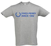 Мужская футболка Fred Perry серого цвета