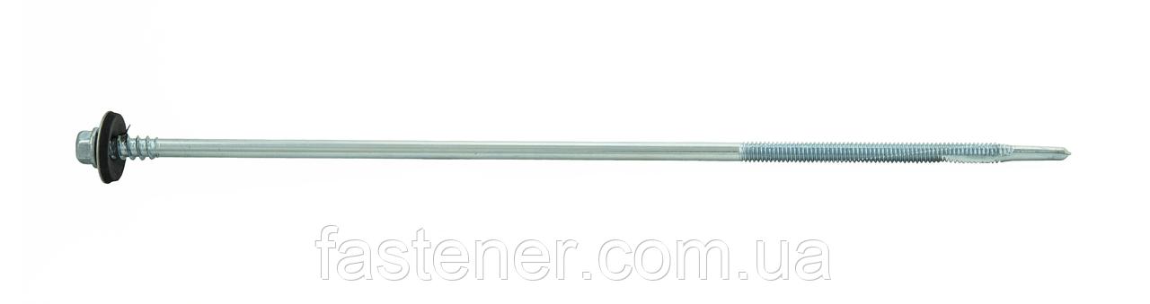 Саморез для сэндвич-панелей 5,5/6,3х250 с шайбой EPDM, сверл. 3,0-12,0 мм, упак-200 шт, ESSVE (Швеция)