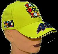 Бейсболка с прикольным вышитым логотипом VR|46 Жёлтая