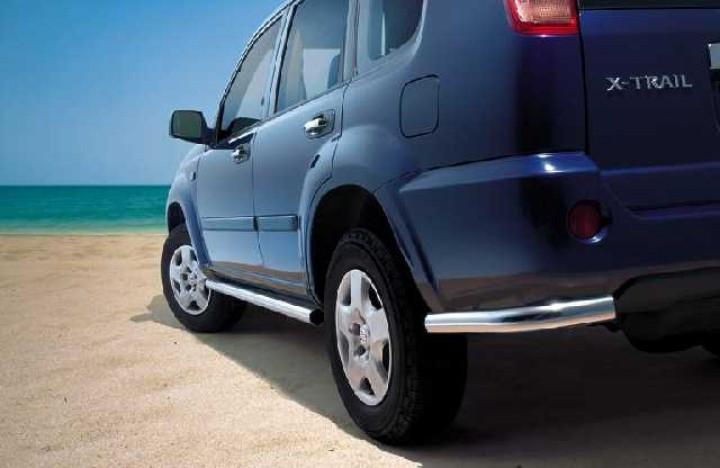Защита задняя уголки  Nissan X-Trail 2001-2007