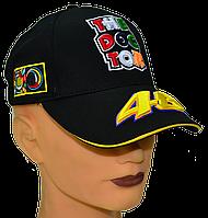 Бейсболка с яркими логотипами VR|46 Чёрная