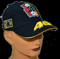 Бейсболки с вышитым логотипом VR|46 Тёмно-синяя, фото 1