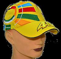 Бейсболка с вышитым ярким логотипом VR|46 Жёлтая, фото 1