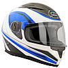 Шлем GEON 968 Интеграл NeedForSpeed White/Blue