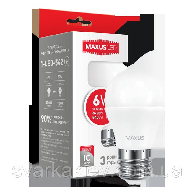 LED лампа G45 6W яркий свет 220V E27  (1-LED-542)
