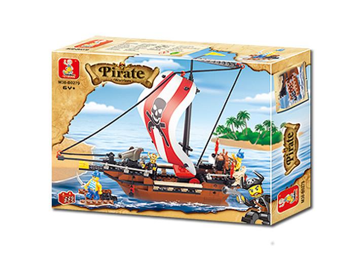 "Конструктор SLUBAN ""Пиратский корабль"" 226 дет, M38-B0279"