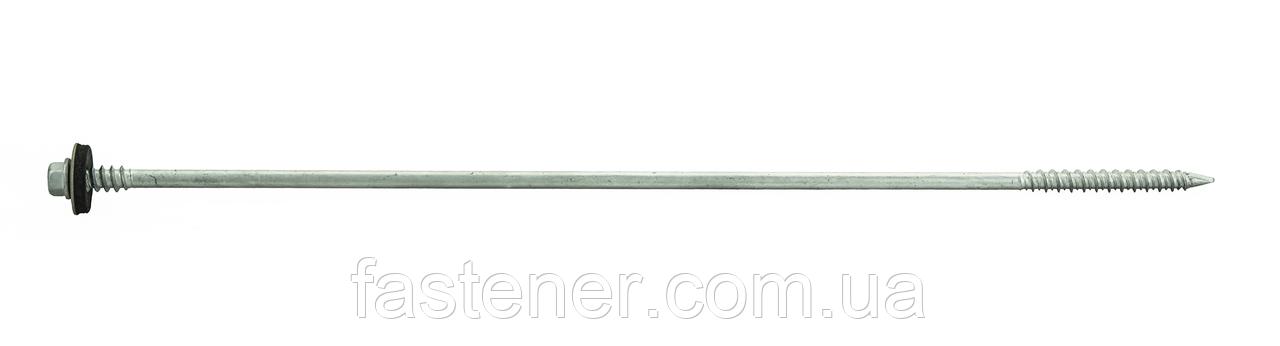 Шуруп по бетону для сэндвич-панелей 6,3/7,0х310, с шайбой EPDM, бетон/дерево (упак -100 шт), Швеция