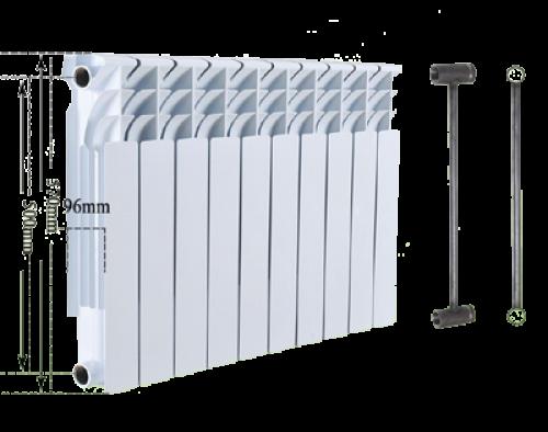Биметаллический секционный радиатор Heat Line 500/96, фото 2