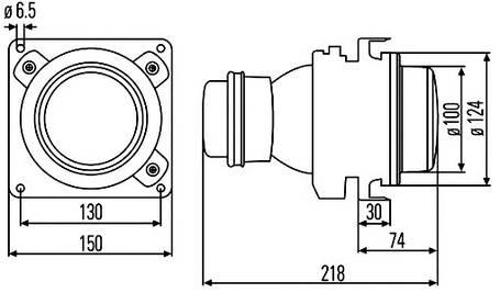 Модуль ближнего света Hella 1BL 007 834-007 (100 мм), фото 2