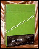 Простынь на резинке махровая зеленая - Польша, фото 1