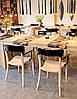 Кресло Hera-K сиденье Песочно-бежевое верх Прозрачно-чистый (Papatya-TM), фото 6