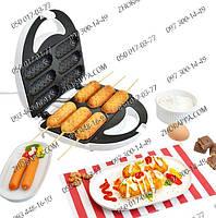 Аппарат для приготовления хот догов, керамическое антипригарное покрытие, приготовление блюд на палочке+рецепт