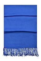 Палантин  однотононный коттон G-150 синий