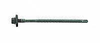Саморез для сэндвич-панелей 5,5/6,3х110, с EPDM, RAL 7042, сверл. 1,5-6,0 мм, уп-100 шт, ESSVE (Швеция), фото 1