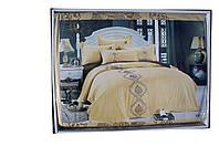 Комплект постельного белья Вышивка Золотой Евроразмер