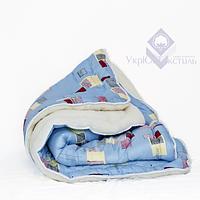 Одеяло меховое+бязь УЮТ (силикон, в чемодане)