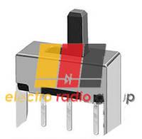 SK14F4, Выключатель ползунковый, малый серебристый углοвой, 6  Pin , 4 положения