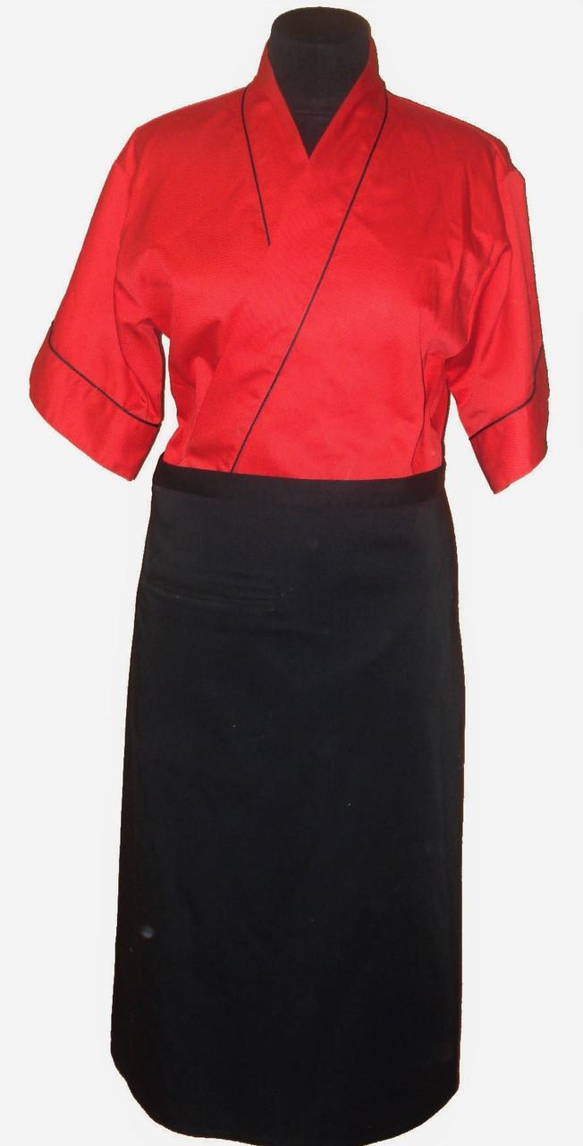 Кимоно красное с черным кантом Atteks - 00915