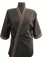 Кимоно темно-коричневое с отстрочками Atteks - 00913