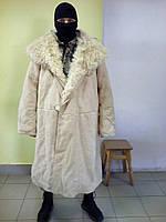 Тулуп натуральный мех СССР черный,белый