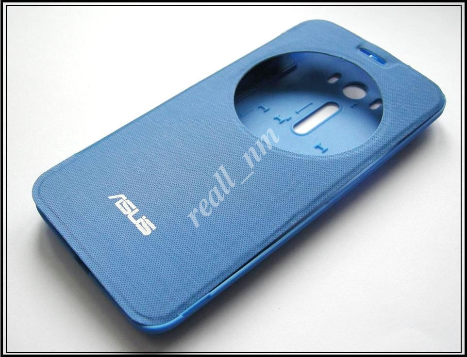 Синий чехол View Flip Cover для смартфона Asus ZenFone 2 Laser ZE500KL ZE500KG