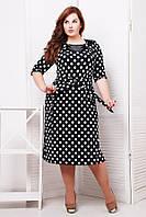 Платье с атласной отделкой  СИЛЬВИЯ 54р., фото 1