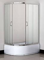 Душевая кабина асимметричная BADICO SAN 1115 Fabric правосторонняя 115х85х195 с поддоном и сифоном