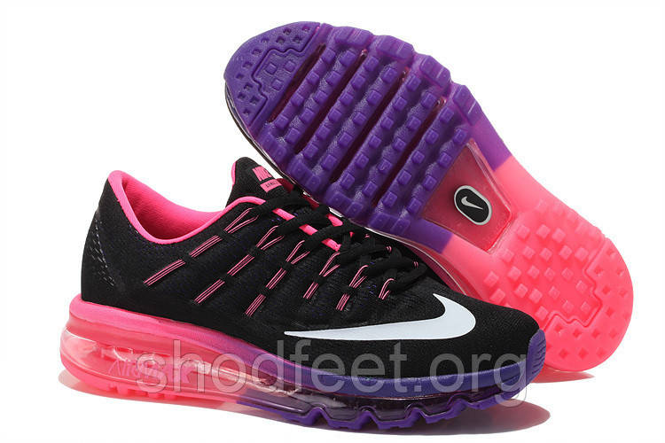 3836b9a6 Женские кроссовки Nike Air Max 2016 Black/Pink/Purple - ShodFeet в Харькове