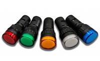Світлодіодні індикатори AD22-22DS 12V AC/DC