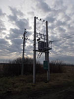 Комплектная трансформаторная подстанция КТПС 25/(6)10/0,4 кВа (столбовая)