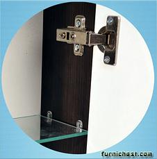 Зеркальный шкаф для ванной комнаты Симпл-Венге 70-17 LED правое (бока венге) ПИК, фото 3