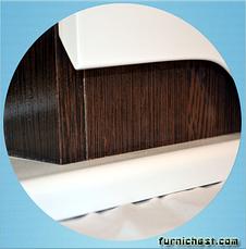 Зеркальный шкаф для ванной комнаты Симпл-Венге 70-17 LED правое (бока венге) ПИК, фото 2