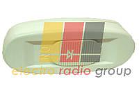 104A, Выключатели на кабель ΟΝ-OFF, клавишный, White, 250V 2A