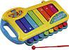 Ксилофон в коробке 4160 (жел, 8 тонов, в кор-ке, 38-26-6см)