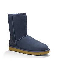 Синие короткие женские замшевые классические угги CLASSIC SHORT UGG® Australia
