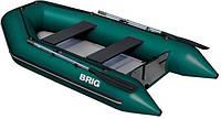 Моторная лодка с надувным настилом Бриг D330W