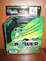 Плетенка Power Pro 275м d 0.23мм зеленая