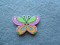 Пуговица деревянная декоративная, бабочка