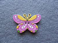 Пуговица деревянная декоративная, бабочка, 16х25 мм