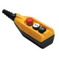 Крановый пульт управления 3-кнопочный, аварийный стоп d=30mm, 1 скорость (жёлто-чёрный) PV3Е30В2 ЭМАС