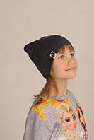Демисезонная однотонная шапка на детей Bape Kids, серый