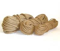 Веревка джутовая для декора сруба диам. 10 мм